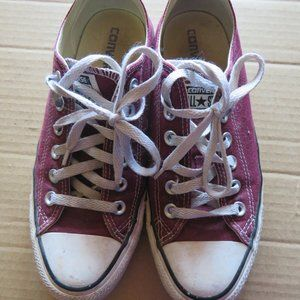 Maroon Converse All Star Sneakers